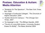postsec education autism media attention