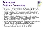 references auditory processing