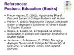 references postsec education books