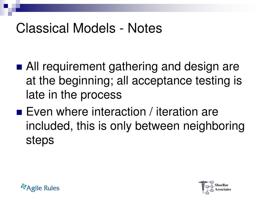 Classical Models - Notes