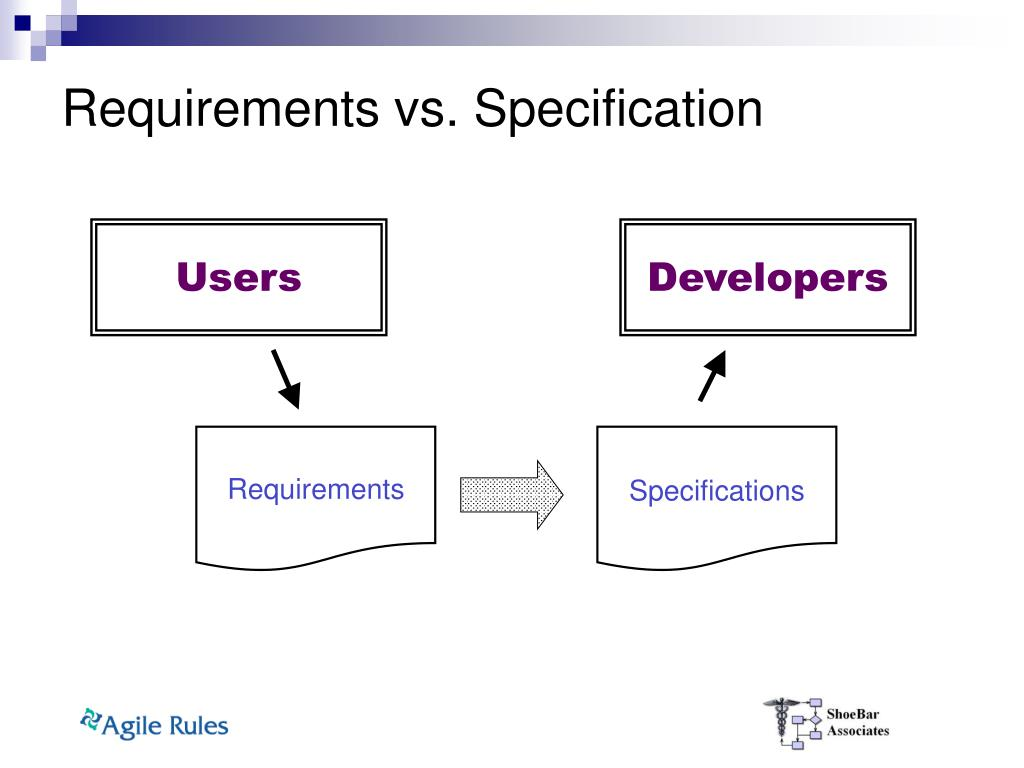 Requirements vs. Specification