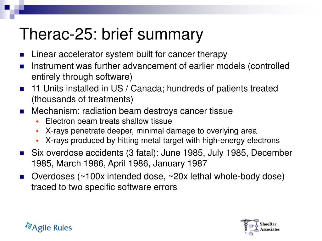 Therac-25: brief summary