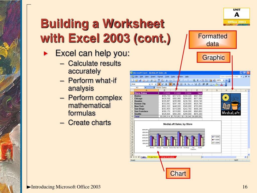 Building a Worksheet