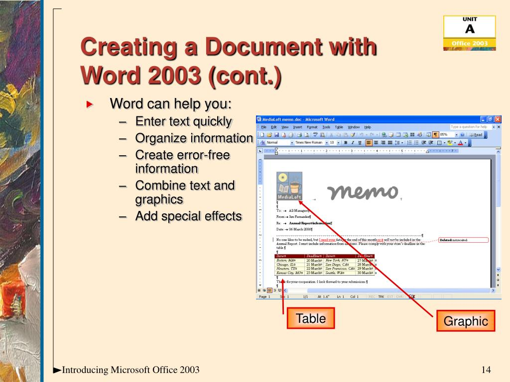 Creating a Document with