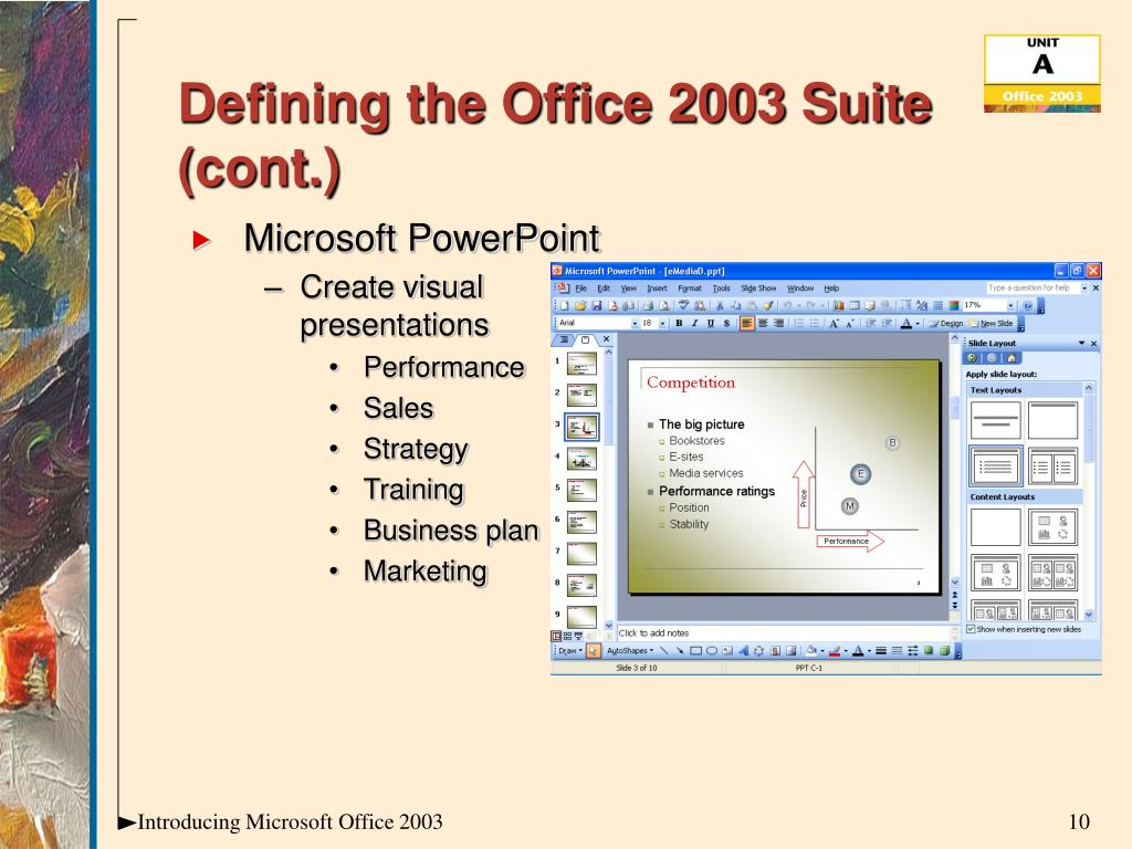 Defining the Office 2003 Suite (cont.)