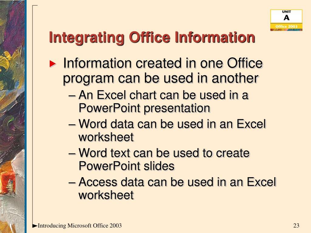 Integrating Office Information