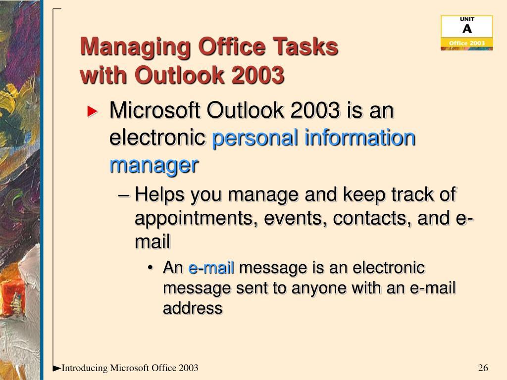 Managing Office Tasks