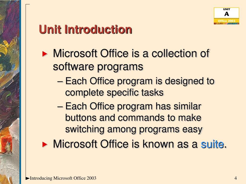 Unit Introduction