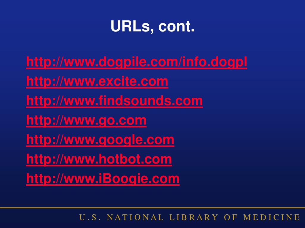 URLs, cont.