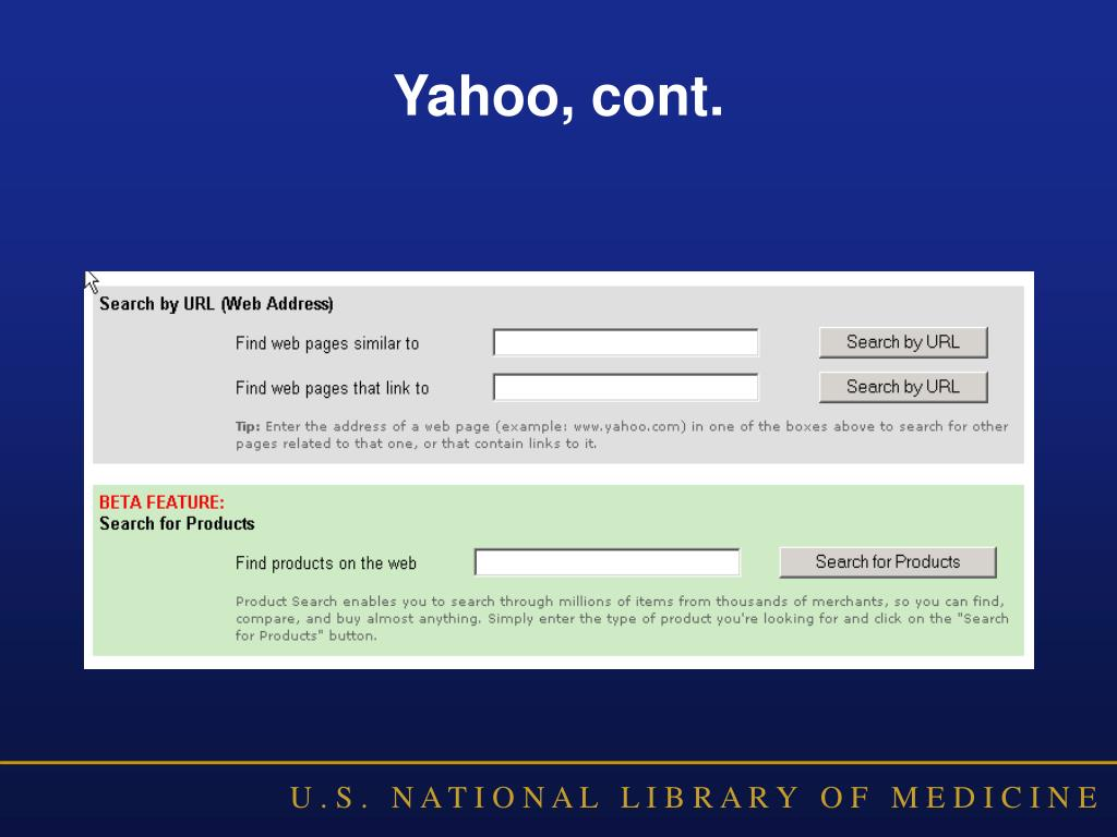 Yahoo, cont.