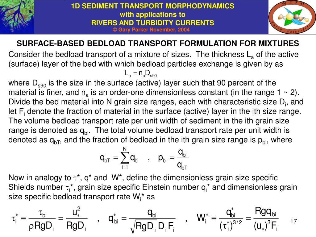 SURFACE-BASED BEDLOAD TRANSPORT FORMULATION FOR MIXTURES
