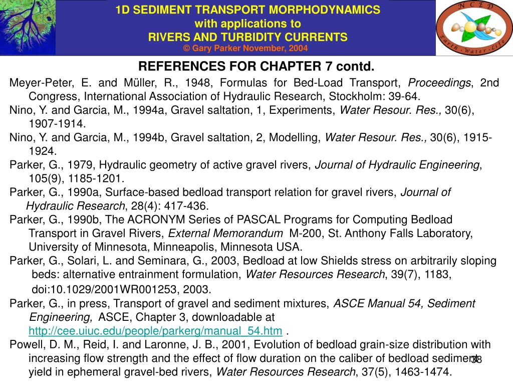 REFERENCES FOR CHAPTER 7 contd.