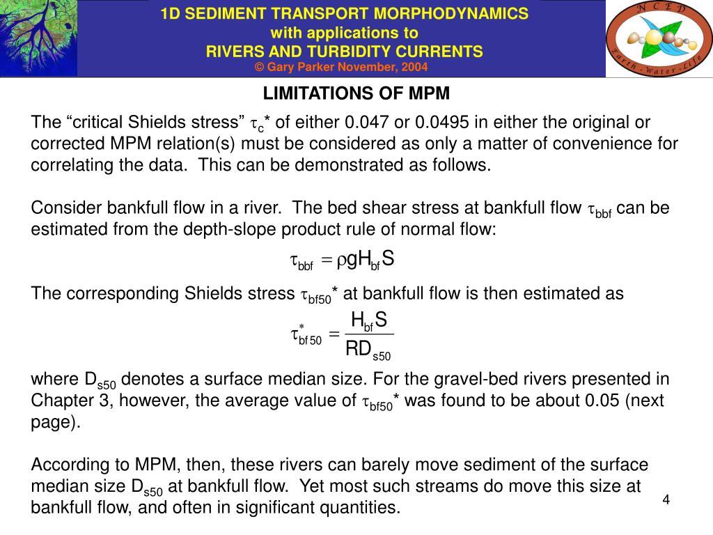 LIMITATIONS OF MPM