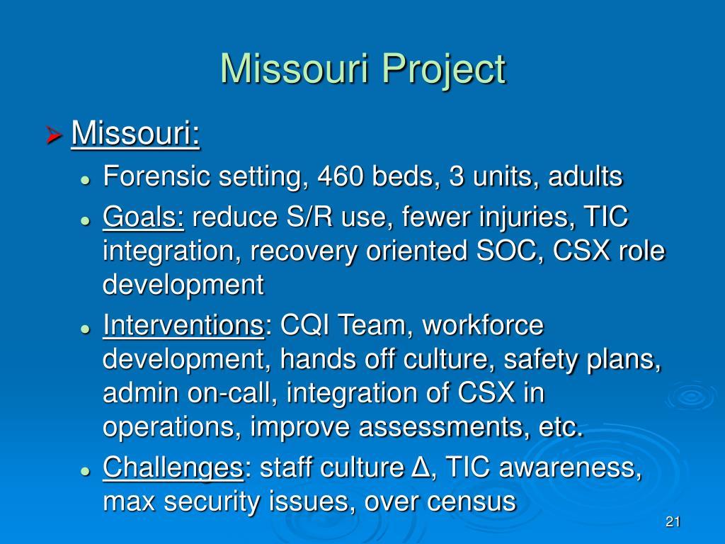 Missouri Project