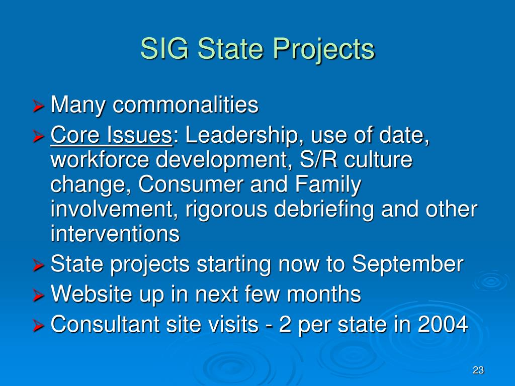 SIG State Projects