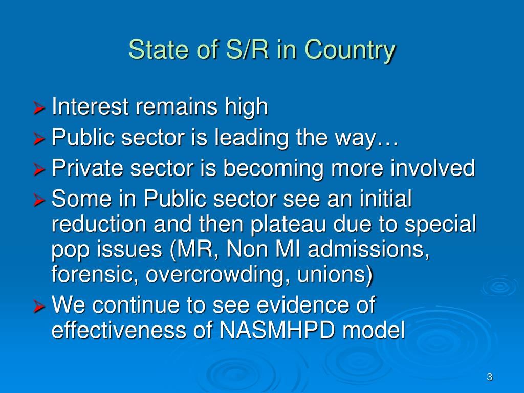 State of S/R in Country