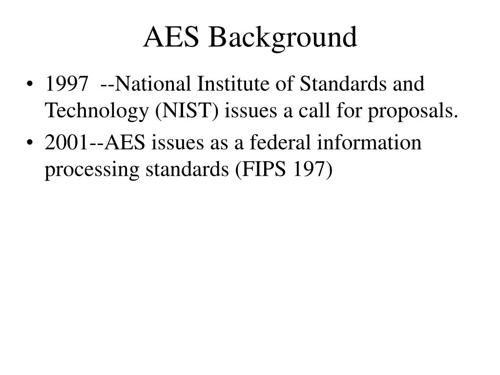 AES Background