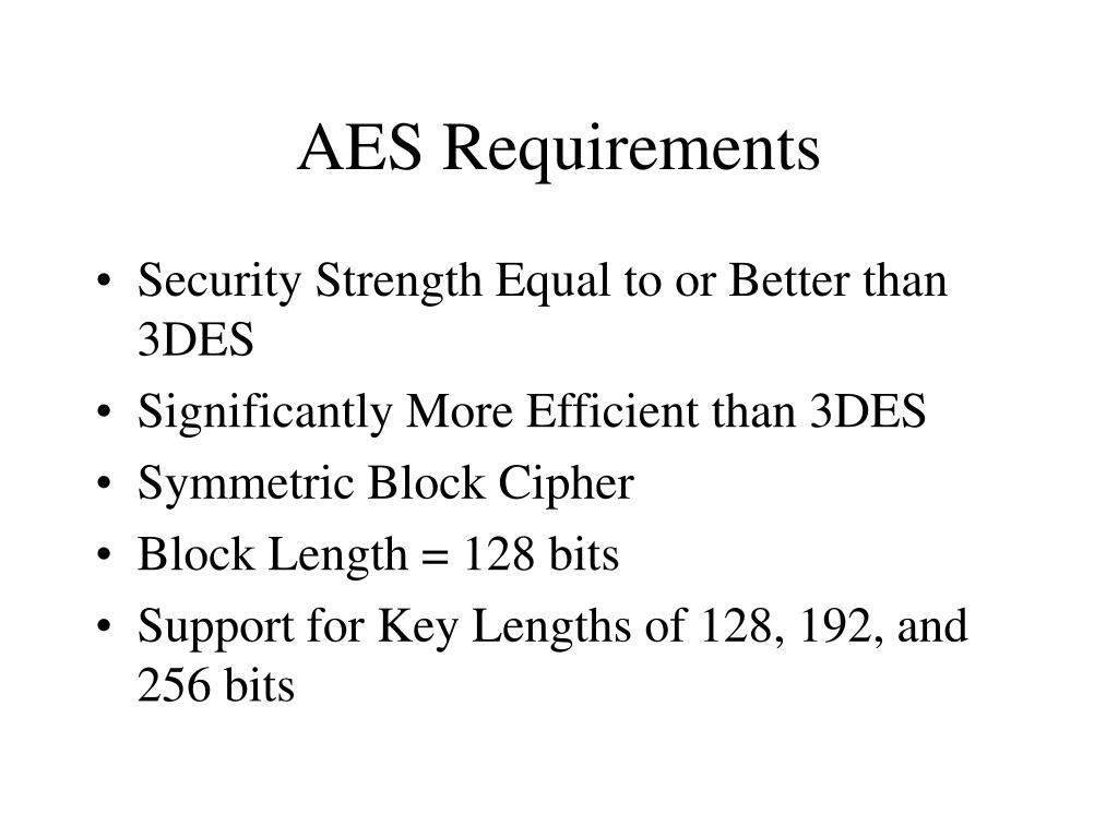 AES Requirements