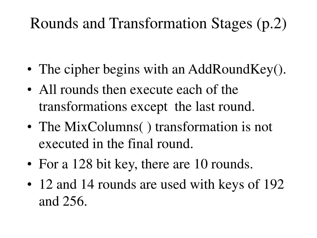 Rounds and Transformation Stages (p.2)