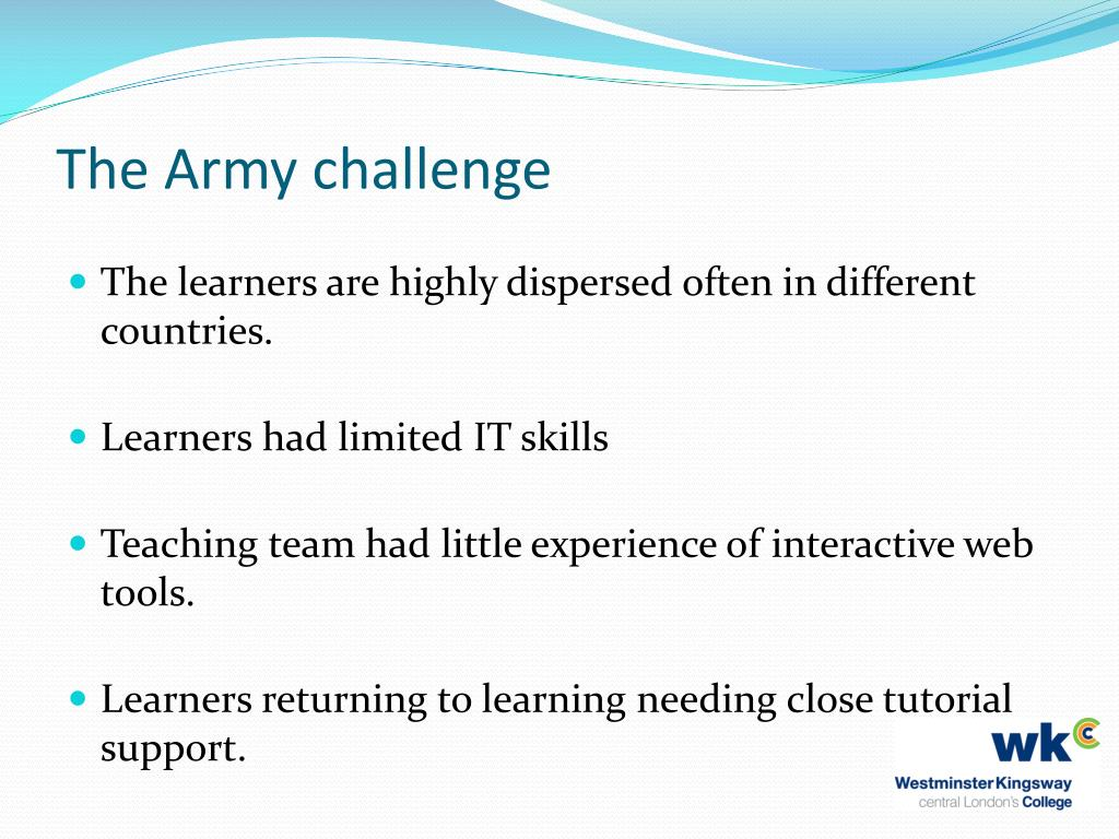 The Army challenge