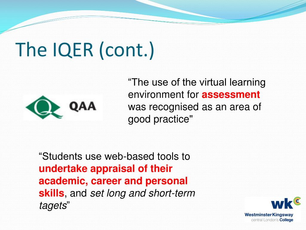 The IQER (cont.)