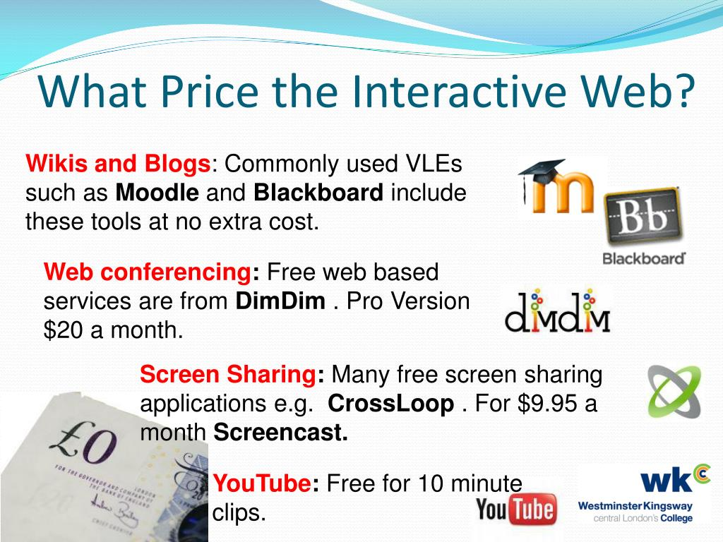 What Price the Interactive Web?