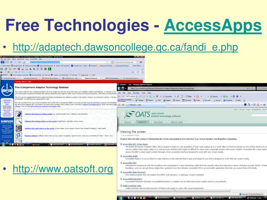 Free Technologies -