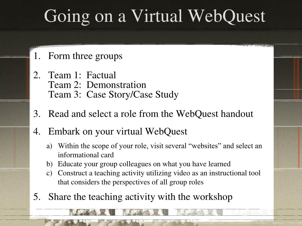 Going on a Virtual WebQuest