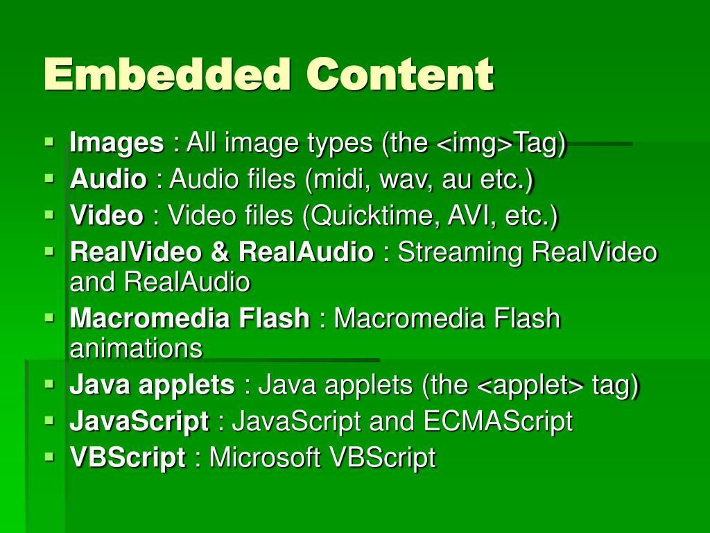Embedded Content