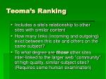 teoma s ranking