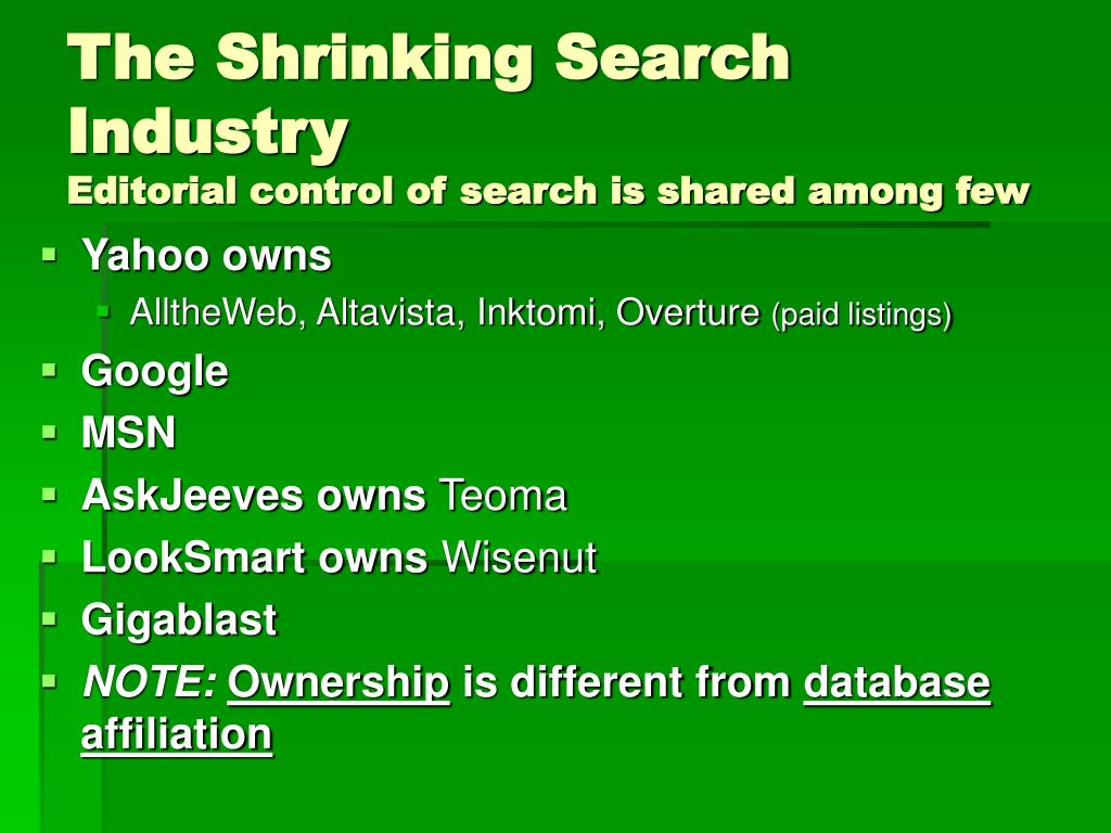 The Shrinking Search Industry
