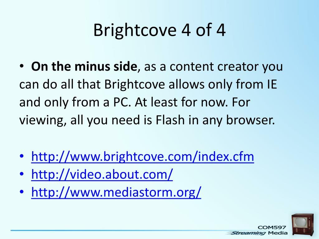 Brightcove 4 of 4