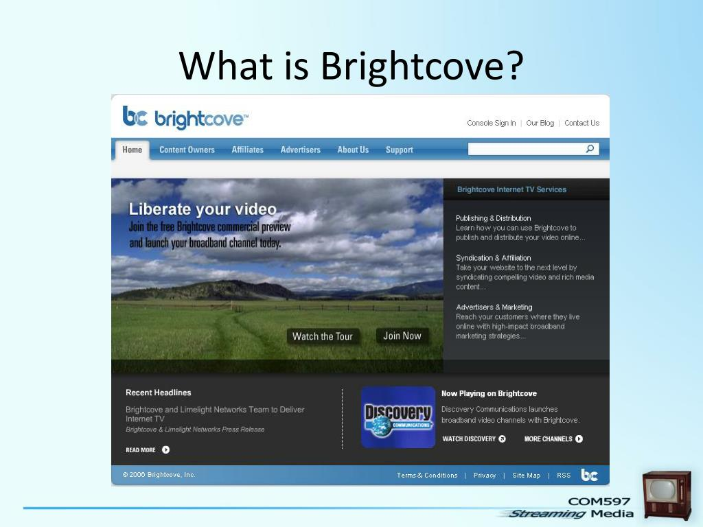 What is Brightcove?