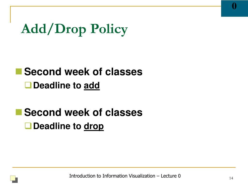 Add/Drop Policy