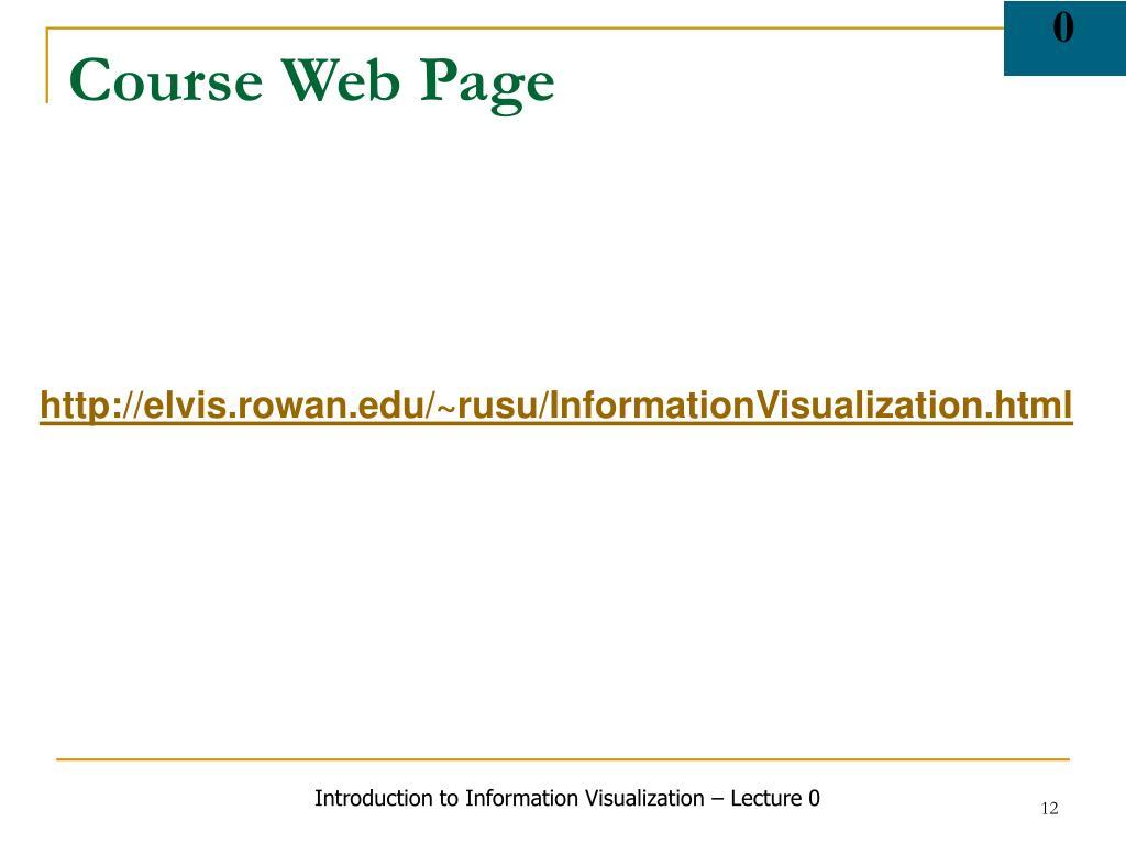 Course Web Page