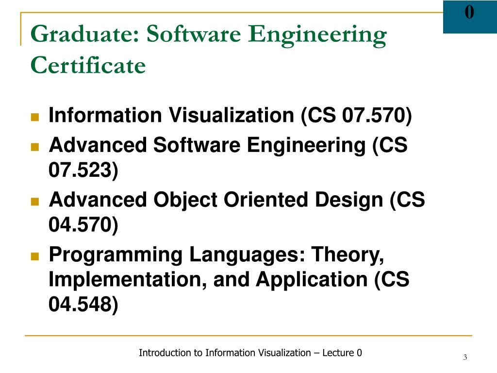 Graduate: Software Engineering Certificate