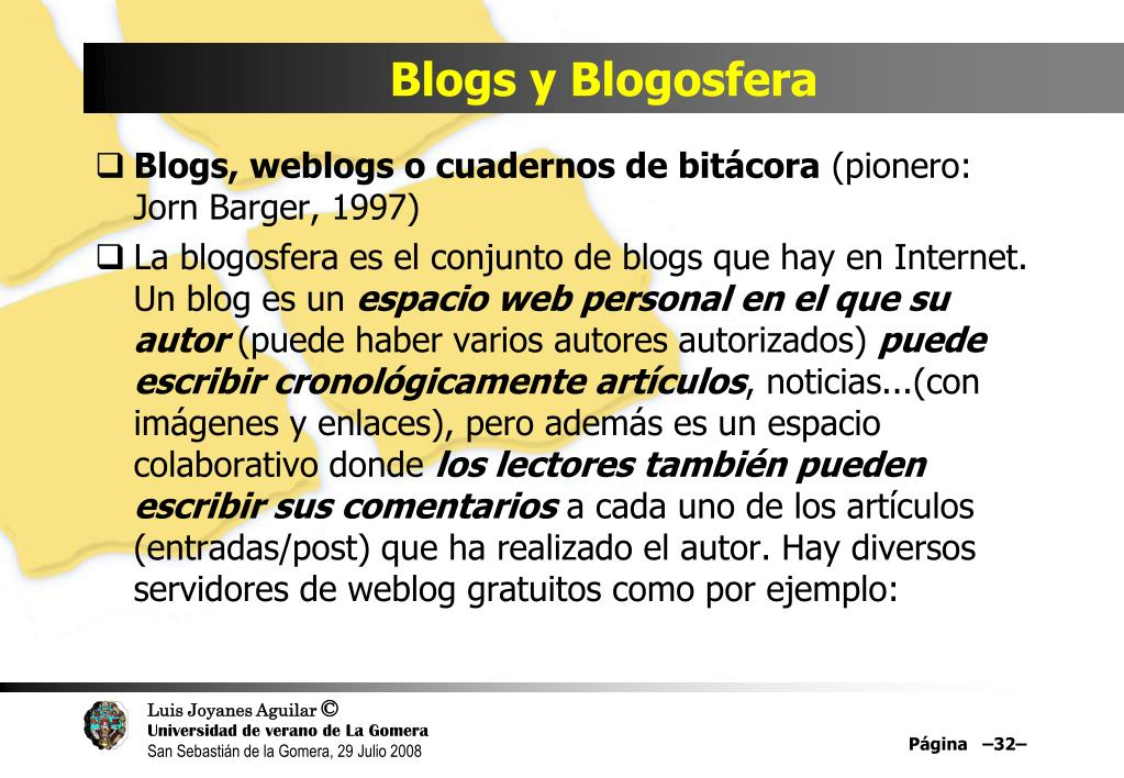 Blogs y Blogosfera