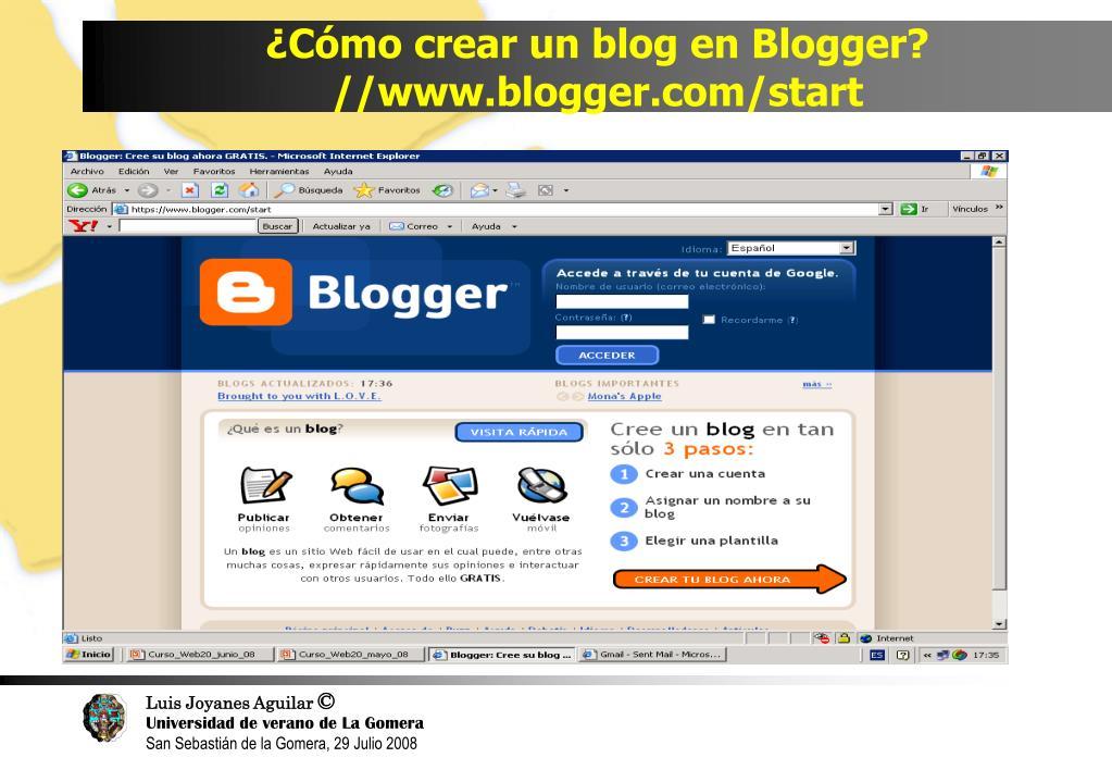 ¿Cómo crear un blog en Blogger?