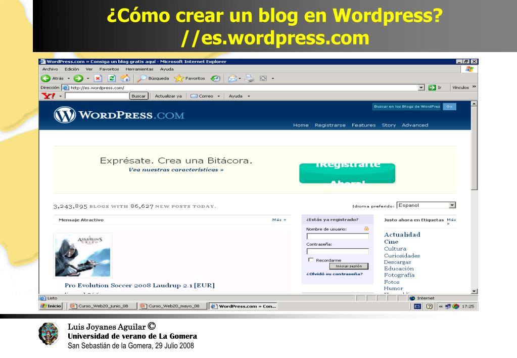 ¿Cómo crear un blog en Wordpress?