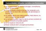 comunidades virtuales sociales profesionales103