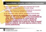 comunidades virtuales sociales profesionales105