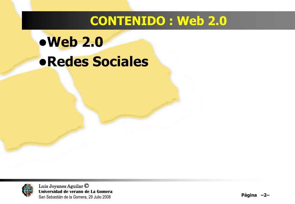 CONTENIDO : Web 2.0
