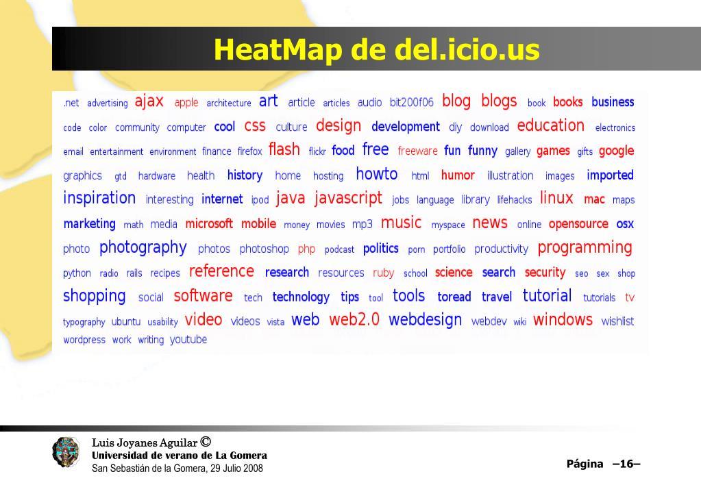 HeatMap de del.icio.us