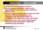networking redes sociales