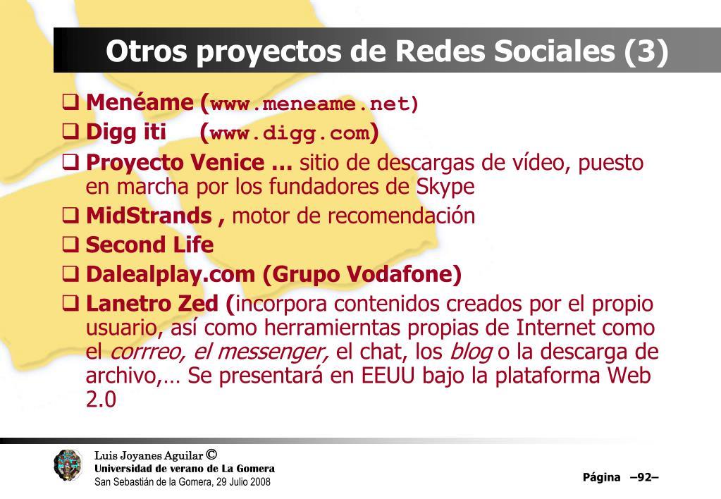 Otros proyectos de Redes Sociales (3)