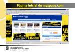 p gina inicial de myspace com