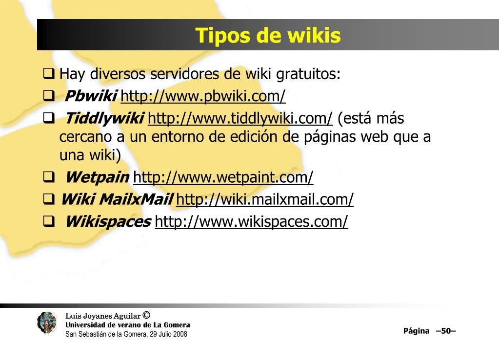 Tipos de wikis