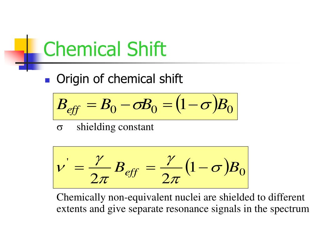 Chemical Shift