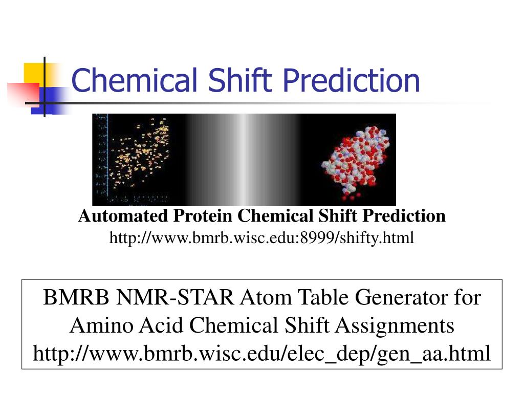 Chemical Shift Prediction