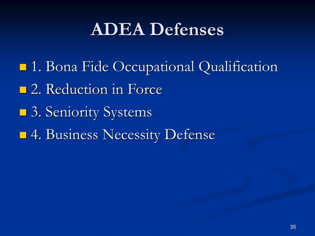 ADEA Defenses